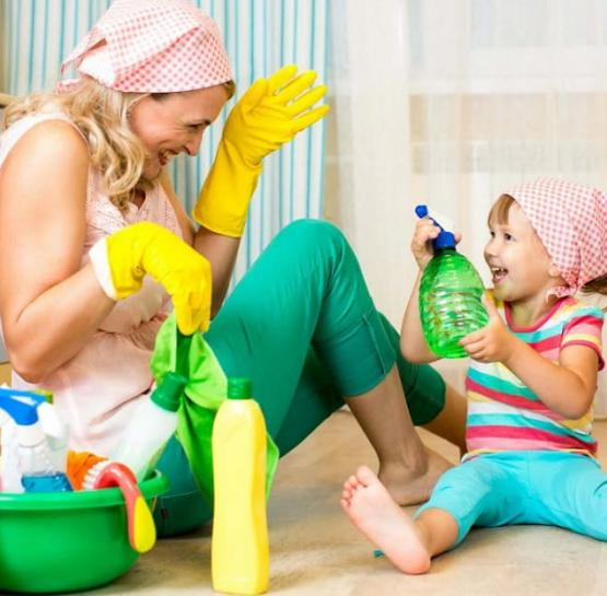 Cleaning as an exciting activity