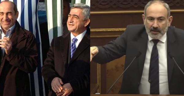 Ռոբերտ Քոչարյան և Սերժ Սարգսյան, ես ձեզ ասում եմ դավաճան եք, հողատու եք, կապիտուլյանտ եք․ Պատերազմի օրերին էլ ձեր դավաճանությունը շարունակել եք․ Նիկոլ Փաշինյան