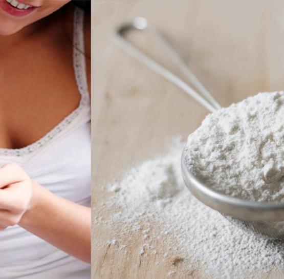 Ալյուրը կօգնի ձեզ սպիտակցենլ և փափկեցնել արմունքները, ծնկները և թևատակերը