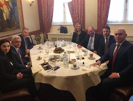 Серж Саргсян в Брюсселе провёл ряд встреч с европейскими коллегами