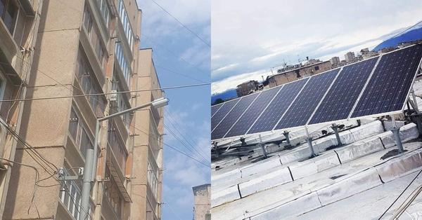 Դավթաշենում 2 բնակելի շենքերում տեղադրվել է արևային համակարգ․ Դրանով կգործեն վերլակը, լույսերը ․․․