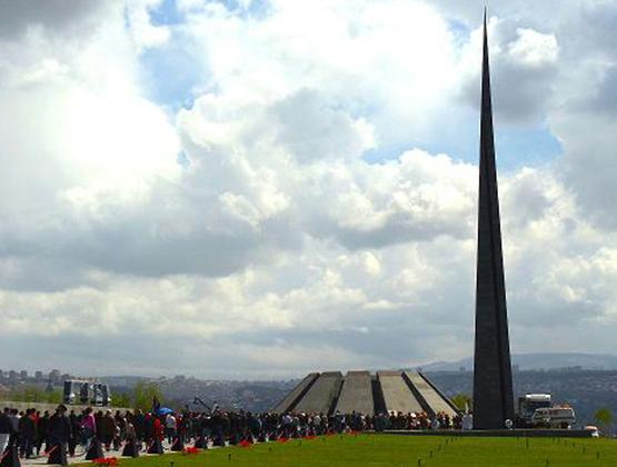 Tsitsernakaberd Armenian Genocide Memorial included in map of genocide monuments