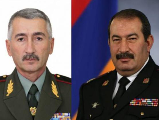 Пашинян потребовал уволить двух высокопоставленных военных