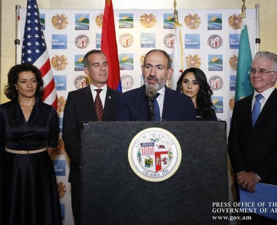 Лос-Анджелес будет ключевым направлением армяно-калифорнийского партнерства Пашинян