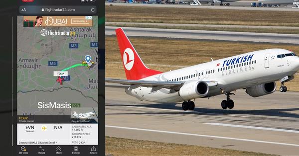 Թուրքական մասնավոր ինքնաթիռ է ժամանել Հայաստան (տեսանյութ)