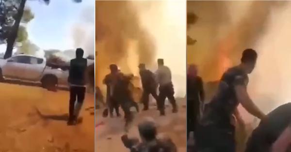 Ադրբեդջանցի փրկարարները փախչում են ու խայտառակ լինում, որոնք եկել էին Թուրքիա ՝ կրակ մարելու (տեսանյութ)