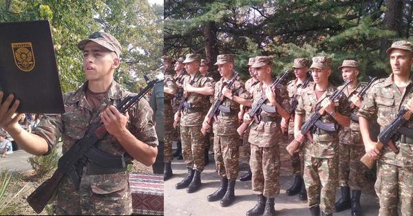 Զինվորական երդման արարողություն․ Մաղթում ենք խաղաղ և անվտանգ ծառայություն