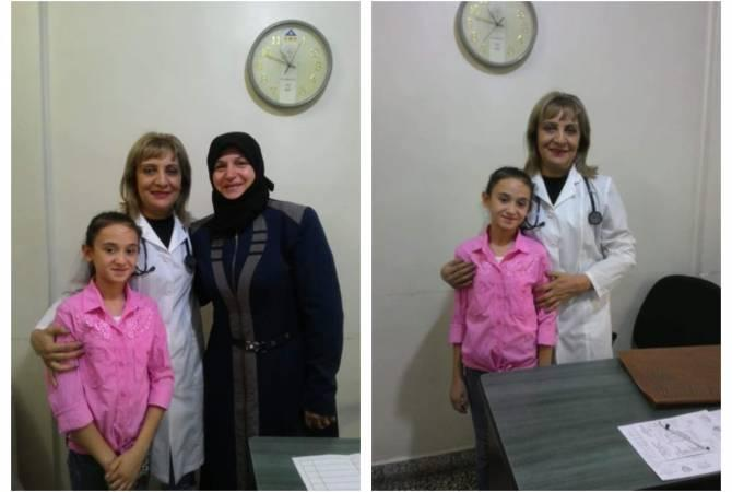 Syrian kid wants to become doctor after seeing Armenian medics in action