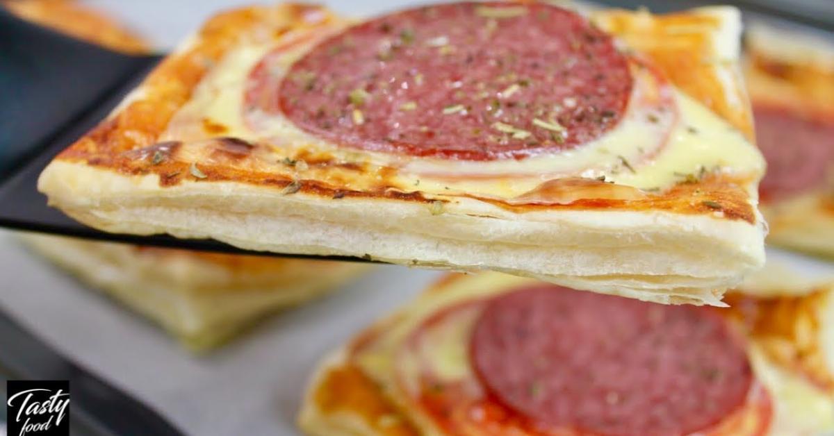 Առավոտյան պատրաստում ենք մինի պիցցաներ, որոնք շատ համեղ են և արագ պատրաստվող